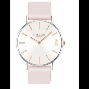COACH LIMITED EDITION BREAST CANCER ICE PINK WATCH